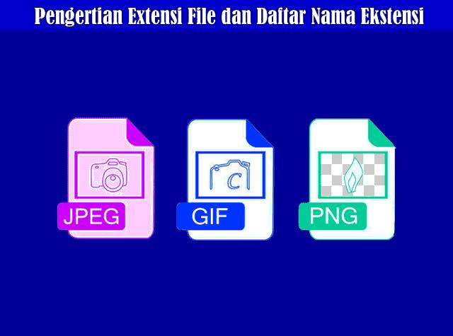 Pengertian Ekstensi (Extensi) File dan Daftar Nama Ekstensi File Terlengkap