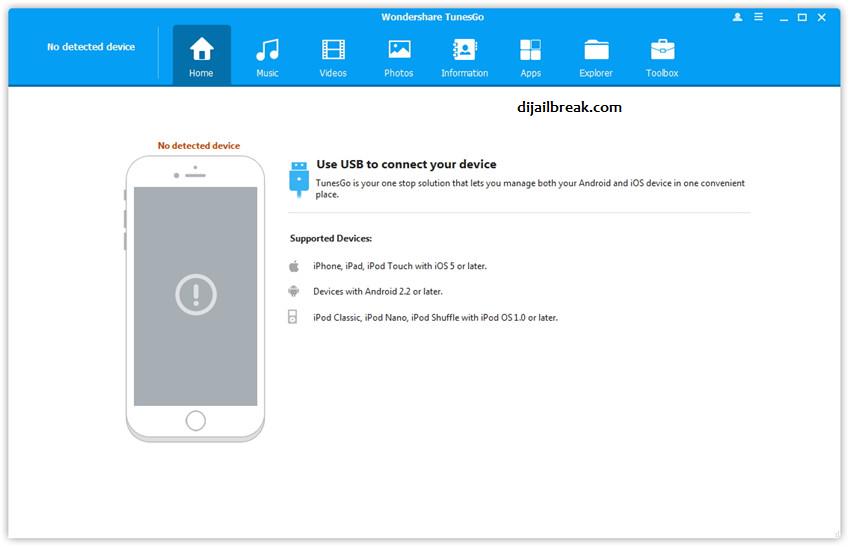 iPhone Belum Terhubung TunesGo Wondershare