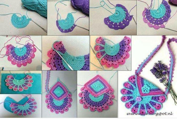 Cómo tejer bolsa de niña al crochet / DIY | Paso a Paso