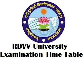Rani Durgavati University Jabalpur Time Table 2017 PDF