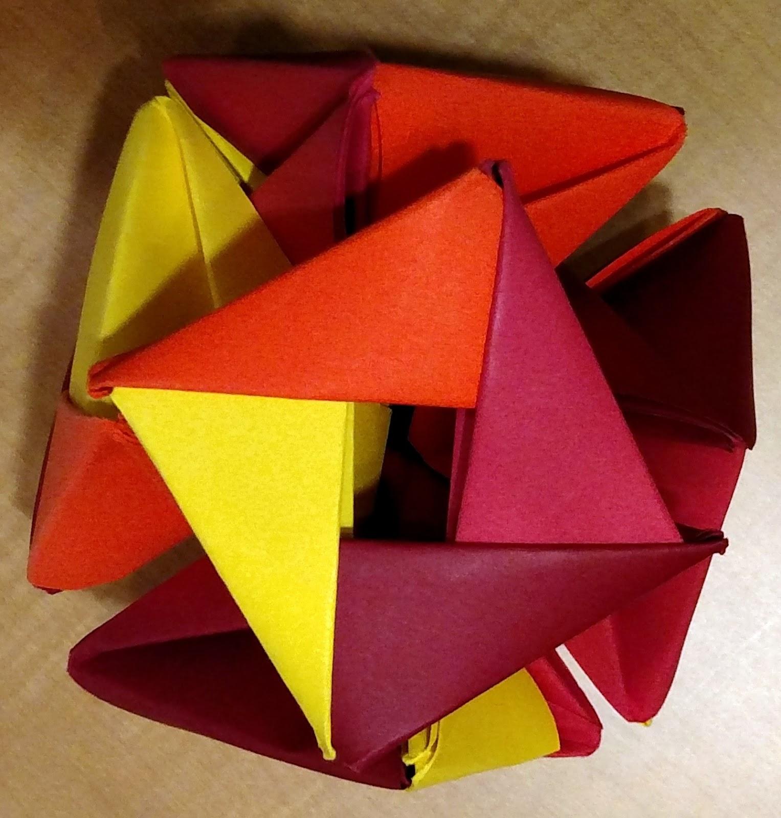 Math Crafts: Make an Origami Ball | Woo! Jr. Kids Activities | 1600x1527