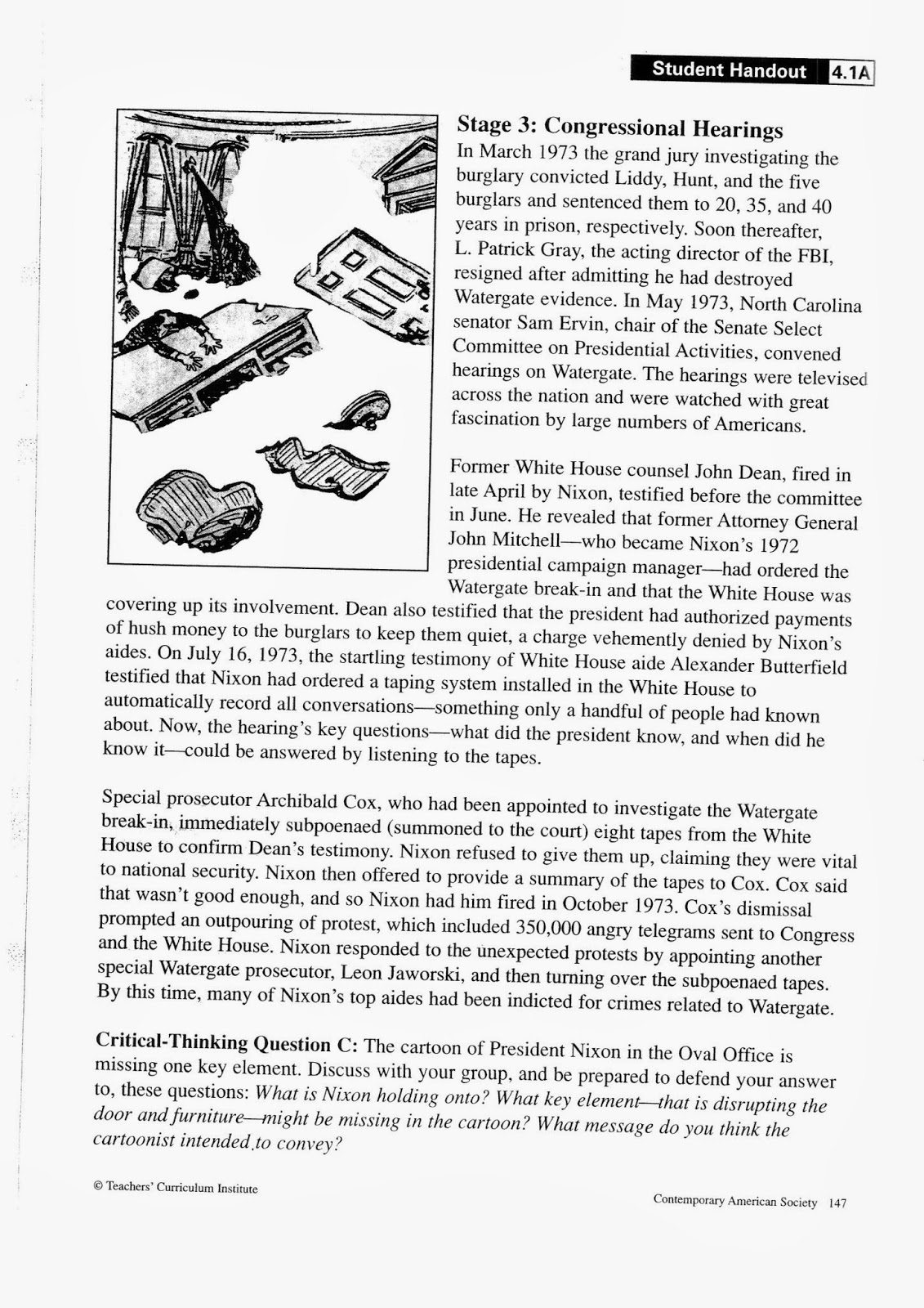 Mr Bravo 39 S Pod Blog 1 4 Watergate Political Cartoon