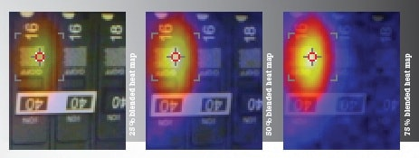 Fluke TiS65 infrared camera Blended heat map