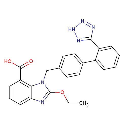 Struktur Kimia Candesartan (Kandesartan)