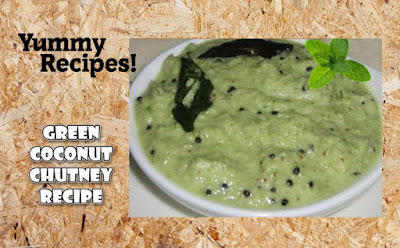 Green Coconut Chutney Recipe - How To Make Coconut Chutney