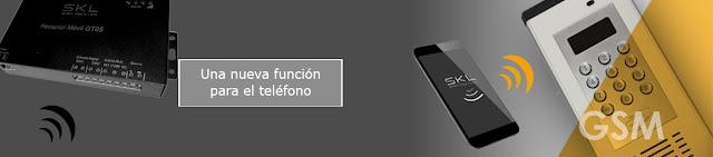 Tecnología GSM para el control de accesos, teléfono móvil para abrir la puerta