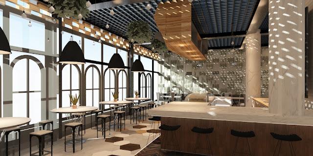 ผลงานการออกแบบร้านกาแฟ Brother hood cafe ลพบุรี