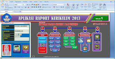 Aplikasi Nilai dan cetak Raport Kurikulum 2013 excel revisi 2017 untuk SD