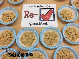 Remember to Re-Check Your Work - Chex cereal as a testing treat