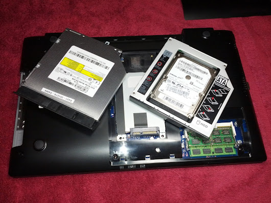 DVD and HDD in a replacement caddy