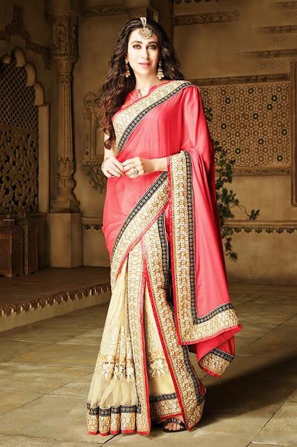 Karisma Kapoor Wedding Wear Designer Saree