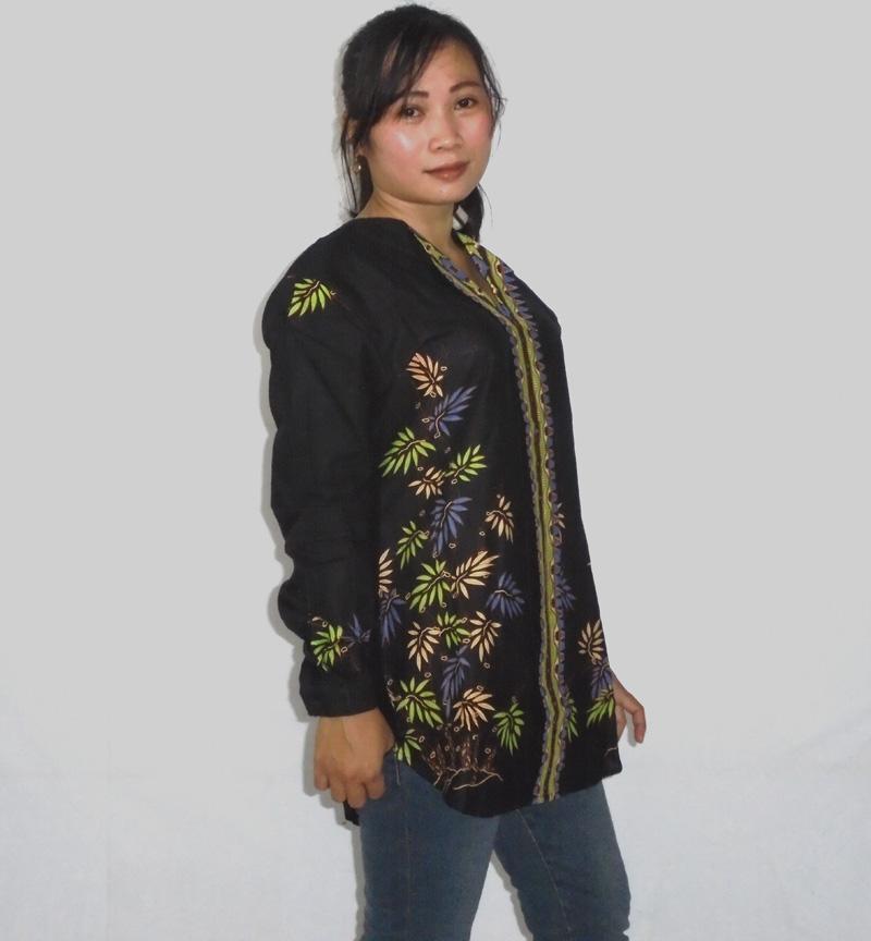 Model Kemeja Batik Wanita Bahan Katun: Model Baju Batik Wanita Modern Terbaru 2017