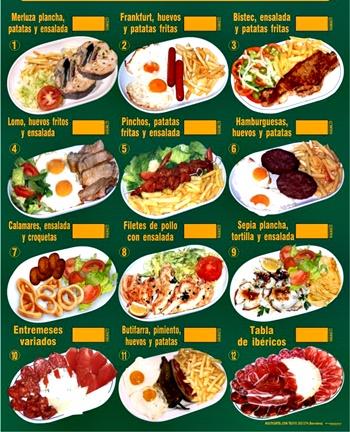 El plato combinado tradicional es un plato único que puede incluir un filete  de carne o pescado ed38679c7921
