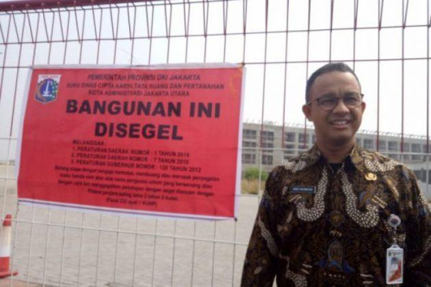 Anies Kenakan Batik Naga Saat Segel Pulau Reklamasi