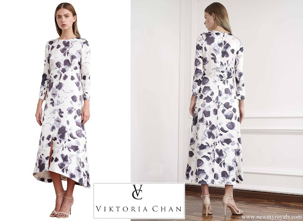 Princess Sofia wore Viktoria Chan Bloom Long Silk Dress