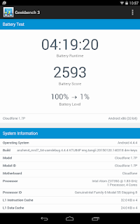 Cloudfone Cloudpad Epic 7.1 Battery Stats
