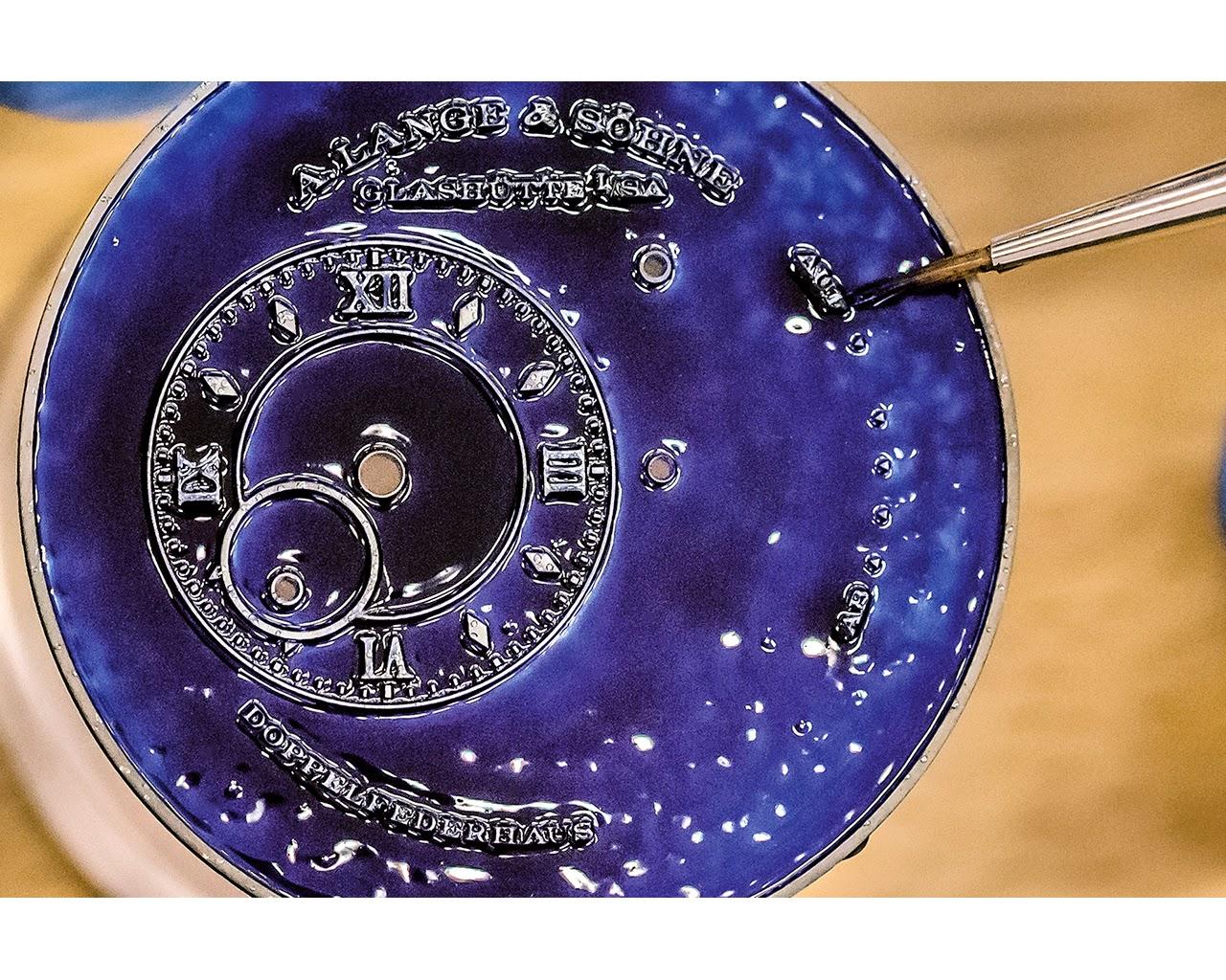 Como realiza A. Lange & Söhne un dial esmaltado debajodelreloj 7