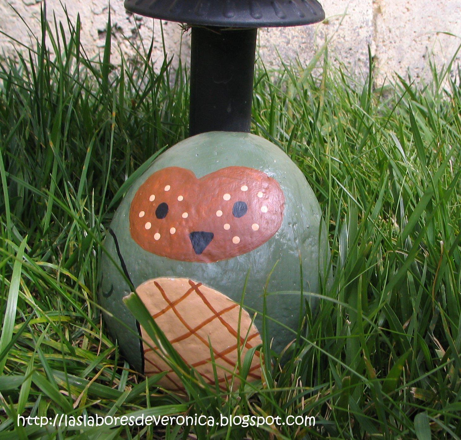 Las labores de veronica for Como decorar mi patio con piedras