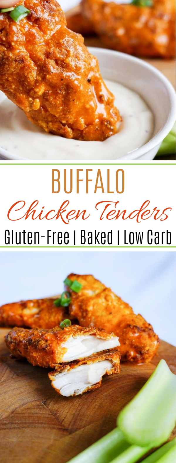 Buffalo Keto Chicken Tenders #diet #lowcarb