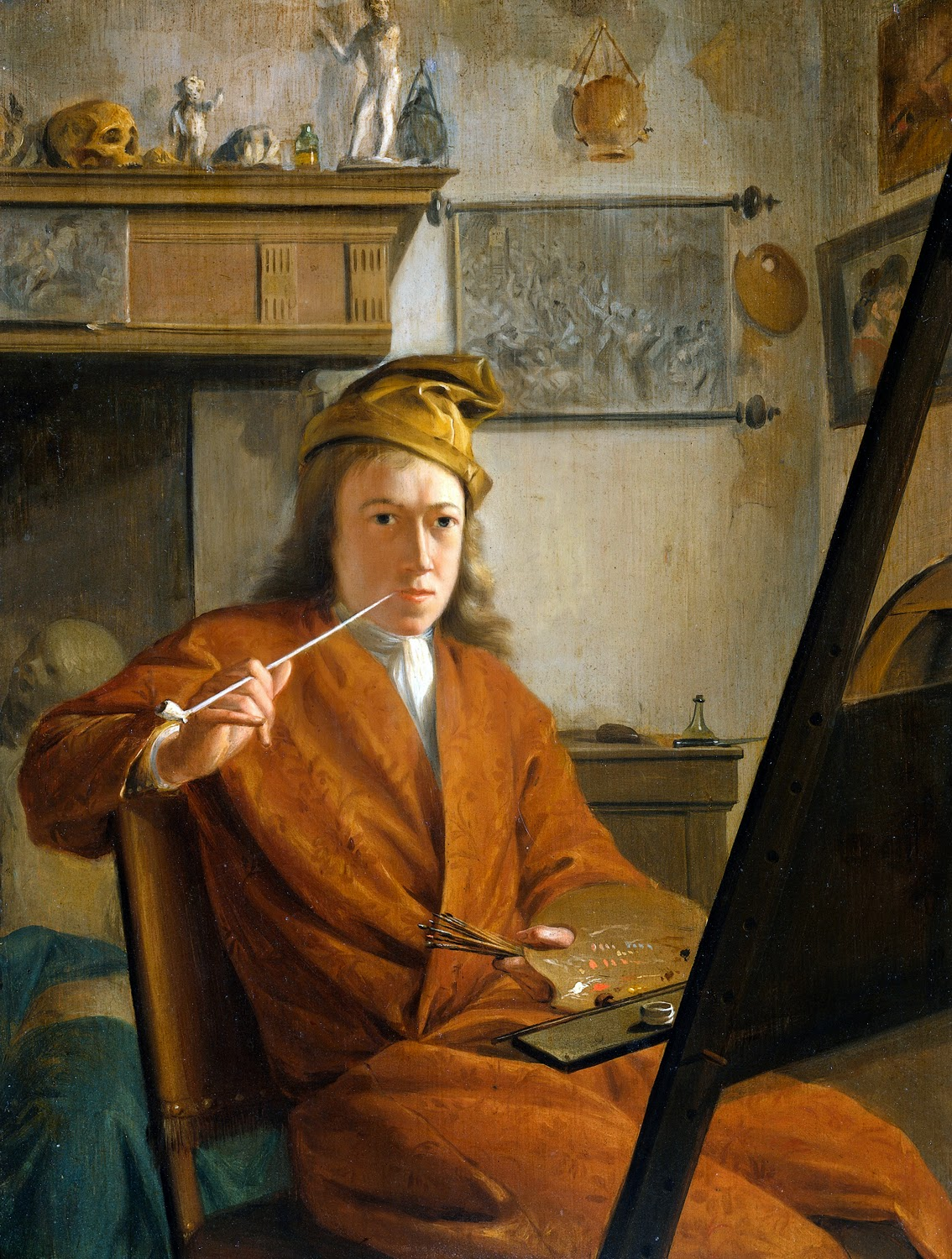 Aert Schouman, Self Portait, Portrait of Painters