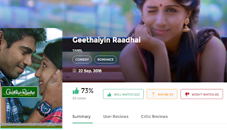 Download Geethaiyin Raadhai(2016) G Crack Full Movie in HD Blu-Ray
