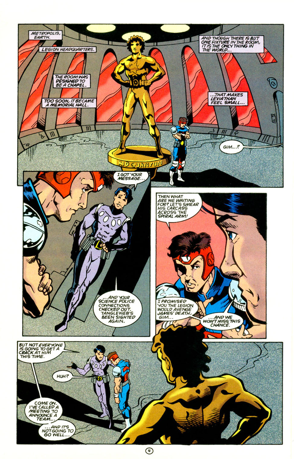 Legion of Super-Heroes (1989) 67 Page 4