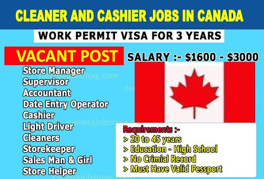 Apply for Cleaner and Cashier Jobs in Canada With Free Visa - Apply Now | TheInfo247.com