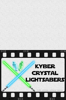Star Wars Kyber Crystal Lightsabers Party Food Label