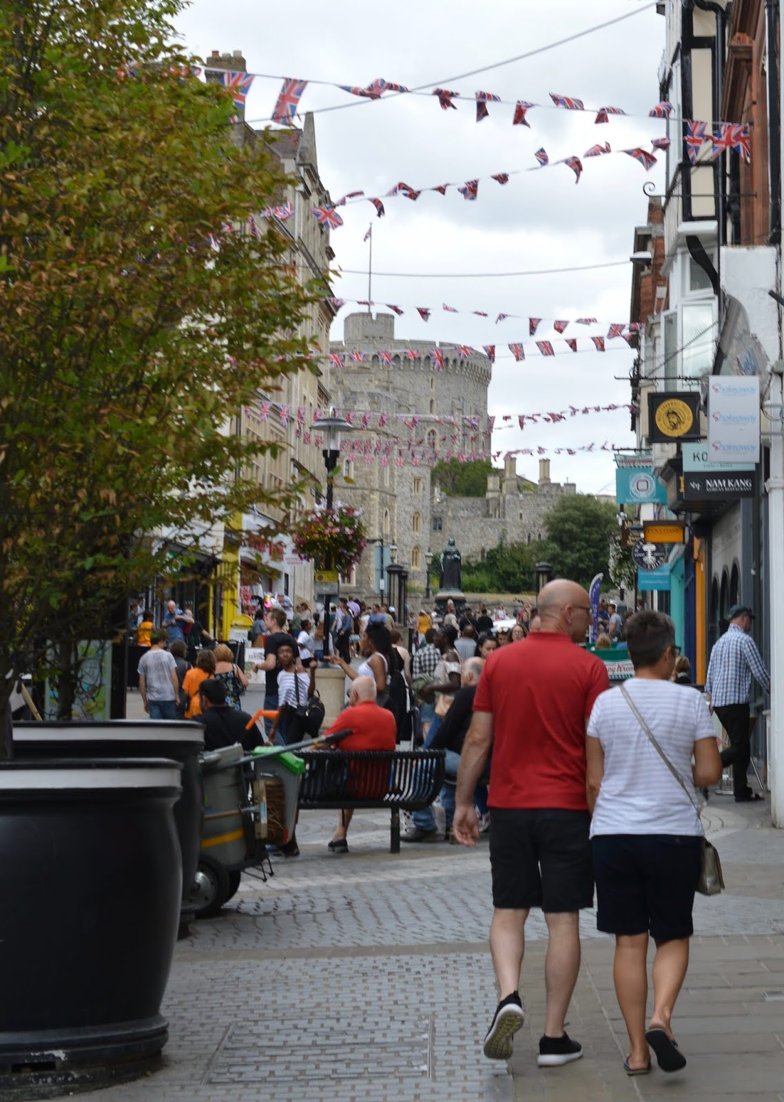 A Short Stay in Windsor with Kids  - windsor high street and bunting