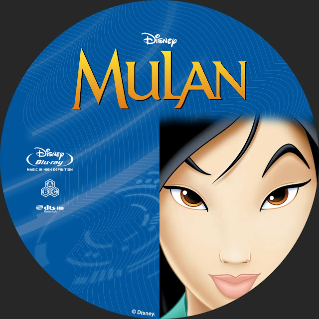 Mulan Bluray Label