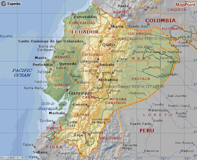 mapa ecuador
