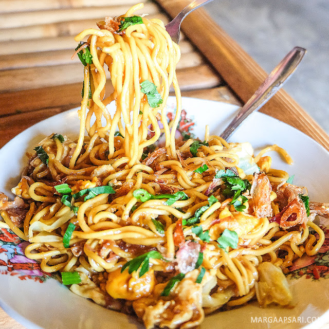 Mie goreng di Bakmi Jawa Mbah Gito, Yogyakarta