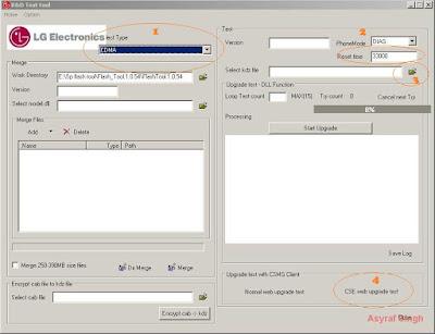 uptestex.exe - flashing LG KDZ Firmware using R&D Test tool