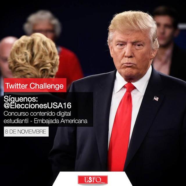 Estudiantes de Periodismo de la USFQ participan en el Twitter Challenge de la embajada de los EE.UU.