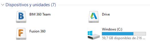 Unidades de Autodesk Desktop Conector