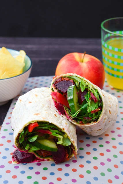 Beet Salad Lunch Wrap