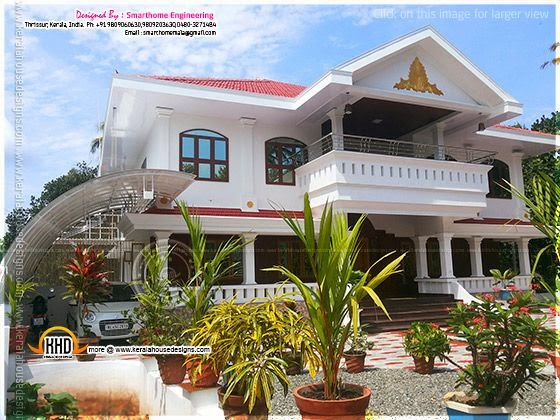 Completed house in Thrissur, Kerala