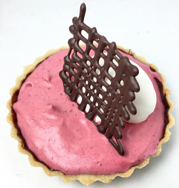 Chocolate & Raspberry Bavarian Tart