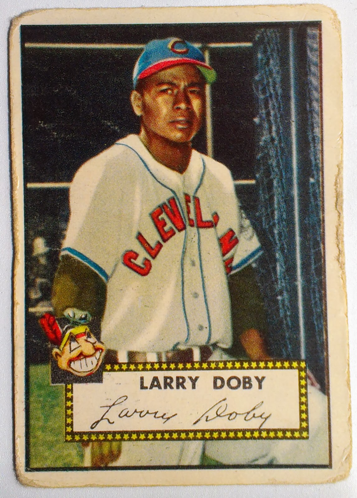 Phungo 2014 03 08 Card Show Valley Forge Pa 1952 Topps Hof Larry Doby