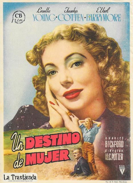 Un Destino de Mujer - Programa de Cine - Loretta Young - Joseph Cotten