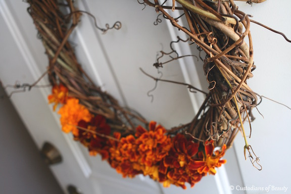 Autumn Lovin' | Grapevine Wreath | by CustodiansofBeauty.blogspot.com
