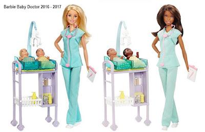 Игровой набор кукла барби профессия доктора и два пупса новорожденных