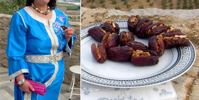 Marokański kaftan i daktyle z orzechami