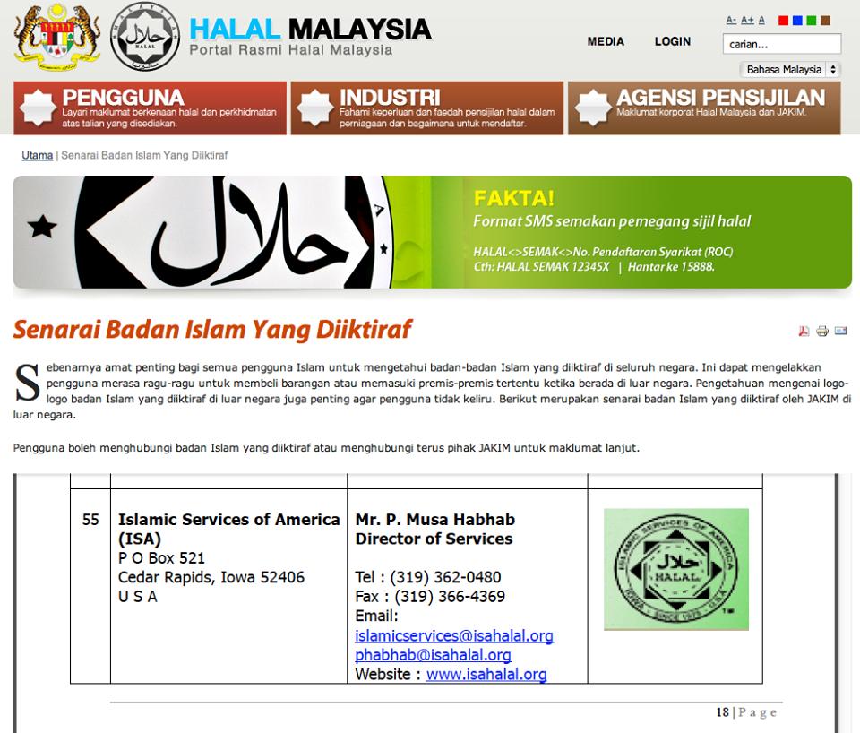 Image result for portal halal jakim