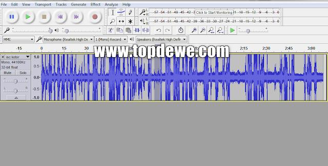 Cara menjernihkan rekaman dengan audacity