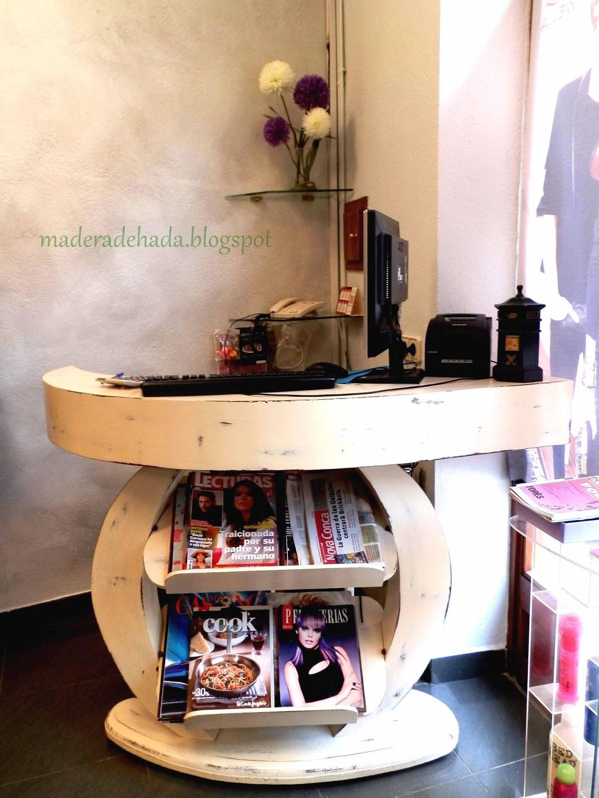 Mostrador De Peluquer A Pintado Con Chalk Paint Madera De Hada # Muebles Lijados Y Pintados