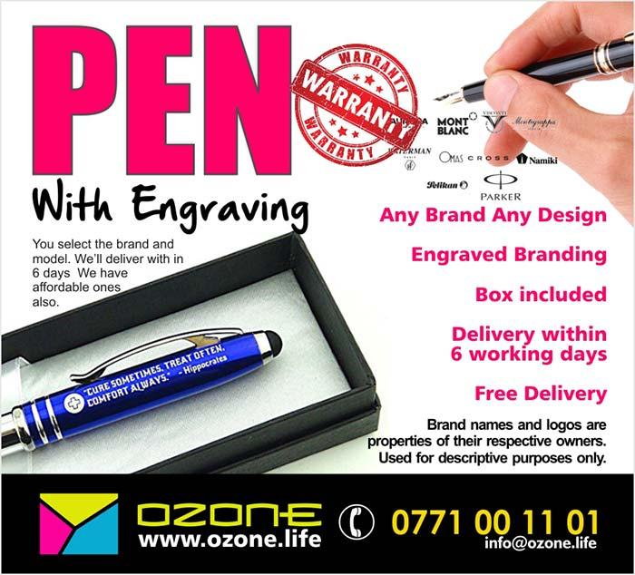 ( High end brand and models also available upon request )  Any Brand Any Design, Engraved Branding, Box included, Delivery within 6 working days, Free Delivery  You select the brand and model. We'll deliver with in 6 days We have affordable ones also.  Brand names and logos are properties of their respective owners. Used for descriptive purposes only.  Ozone Branding - Online corporate gift shop powered by Powercampaigner.