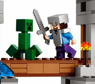 The New LEGO Minecraft sets Steve in armour