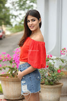 Rhea Chakraborty in Red Crop Top and Denim Shorts Spicy Pics ~  Exclusive 171.JPG