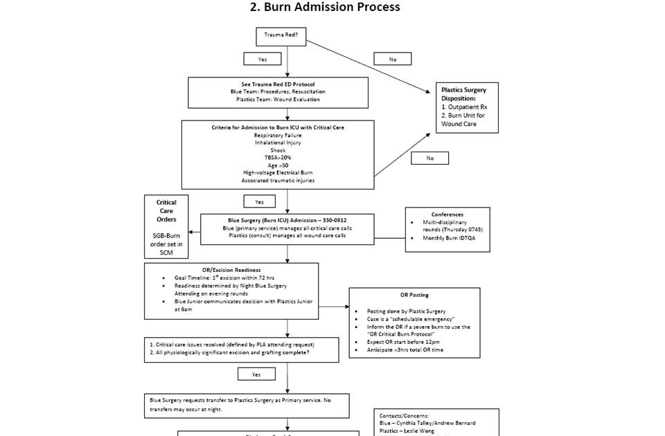 UK Trauma Protocol Manual: Burn 2. Burn Admission Process